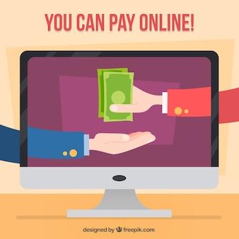 Você pode pagar on-line