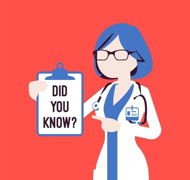 Você sabia anúncio médico feminino