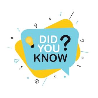 Você sabia da etiqueta do fato interessante? ilustração