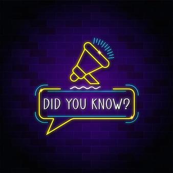 Você sabia que luz de néon?