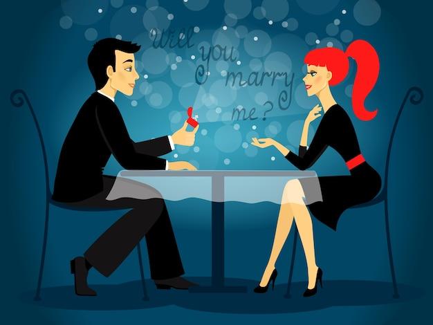 Você se casará comigo, proposta de casamento?