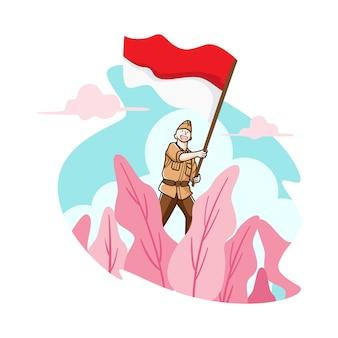 Voe minha bandeira indonésia