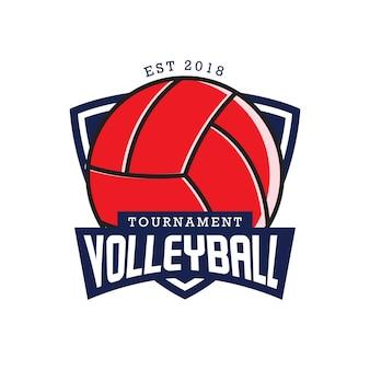Voleibol emblemas rótulo vector