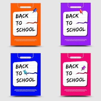 Volta ao cartaz do conjunto de escola