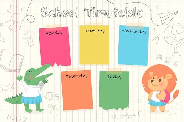 Volta ao horário escolar