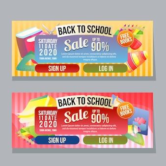 Volta ao modelo de banner horizontal de escola