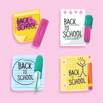 Volta ao tema de crachás de escola