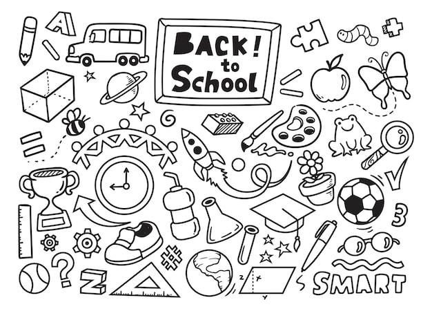 Volta às aulas coleção de doodle
