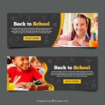Volta para a coleção de banner web escola com foto