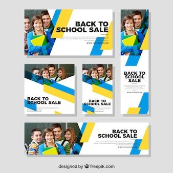 Volta para a coleção de banners web da escola com foto