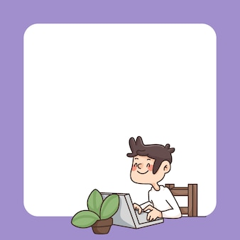 Volta para escola bloco de notas ilustração bonito dos desenhos animados