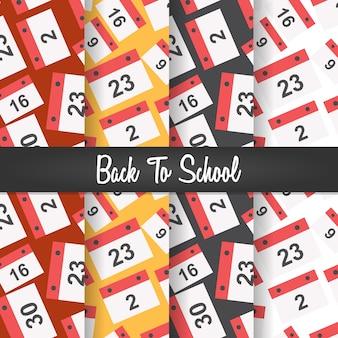 Volta para escola data calendário sem costura padrão