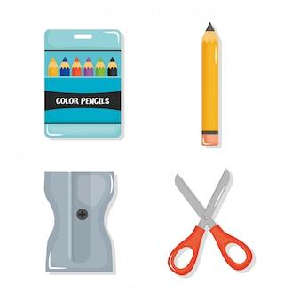 Volta para escola definir ícones