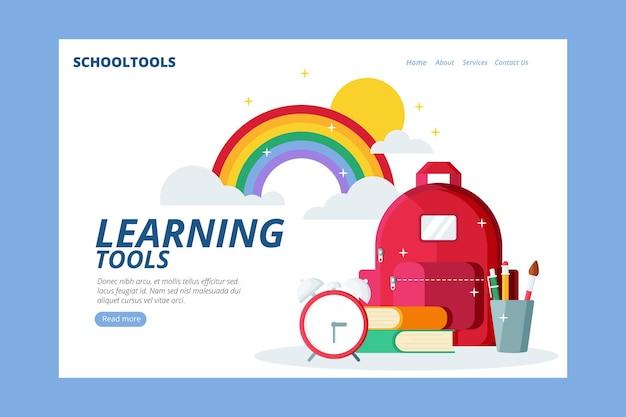 Volta para escola design de modelo de site
