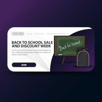 Volta para escola e desconto semana banner