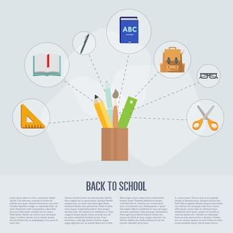 Volta para escola infográficos