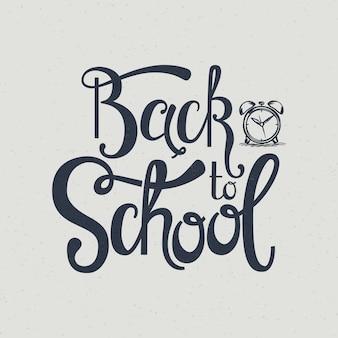 Volta para escola mão lettering.