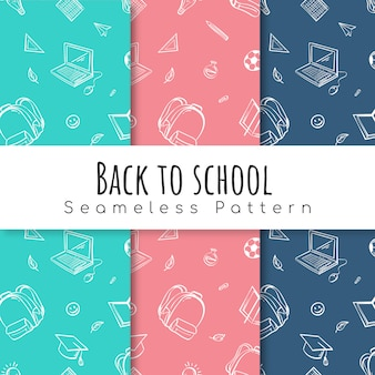 Volta para escola padrão definido.