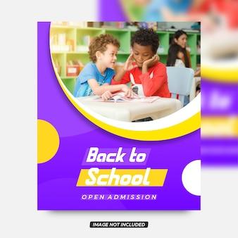 Volta para escola vibrante criativo panfleto