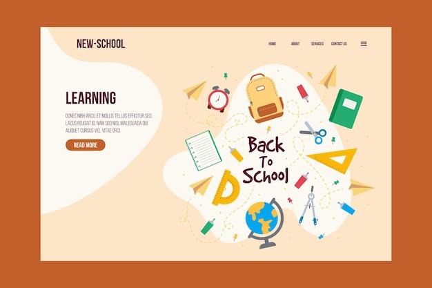 Volta para o estilo de modelo de web de escola