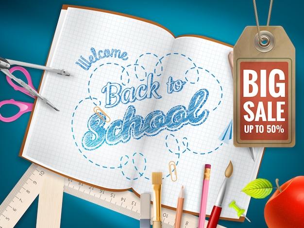 Volta para o fundo de venda de escola.