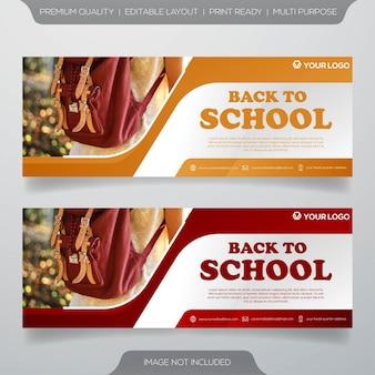 Volta para o modelo de banner da web escola
