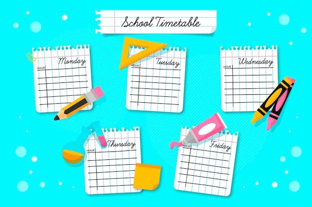 Volta para o modelo de calendário escolar