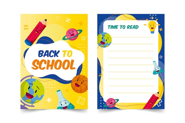 Volta para o modelo de cartão escolar