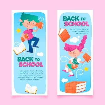 Volta para o modelo de desenho de banner de escola