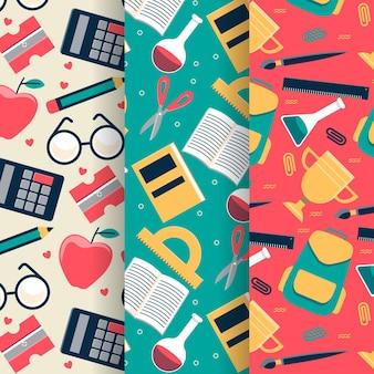 Volta para o projeto de coleção de padrão de escola