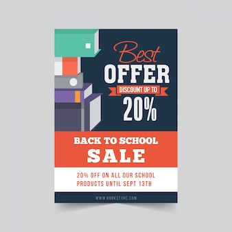 Volta para o projeto de modelo de panfleto de venda de escola