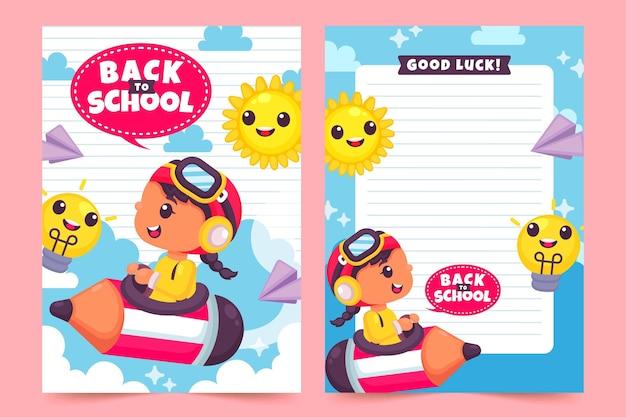 Volta para o tema do modelo de cartão de escola