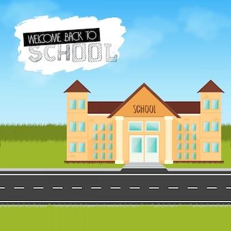 Volta para o vetor de elemento de design de escola