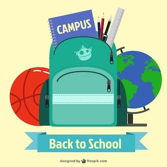 Voltar a mochila da escola e outros elementos