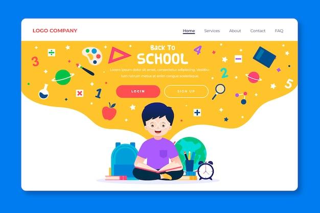 Voltar à página de destino do modelo de escola