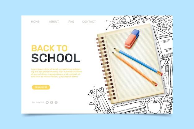 Voltar à página inicial da escola com ilustrações