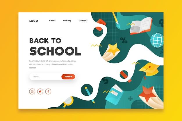 Voltar ao conceito de página de destino da escola