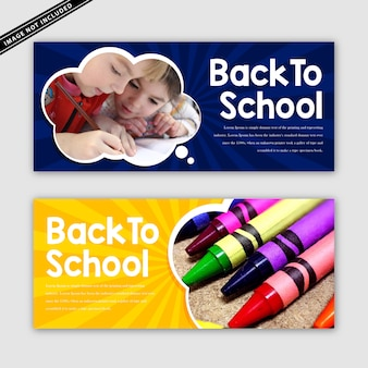 Voltar ao conjunto de banner de escola