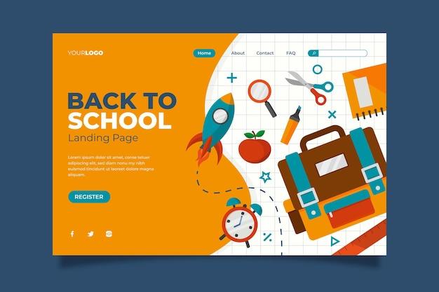 Voltar ao design da página inicial da escola
