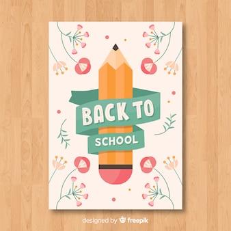 Voltar ao modelo de cartão de escola