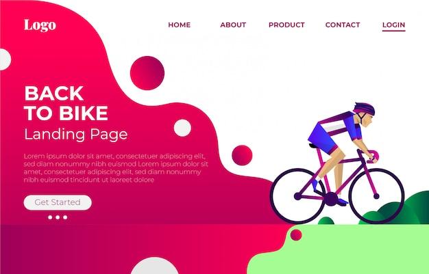 Voltar ao modelo de página de destino da bicicleta