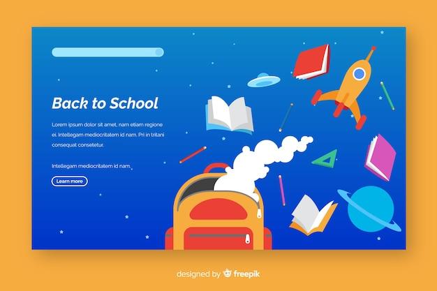 Voltar ao modelo de página de destino da escola