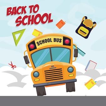 Voltar ao ônibus escolar acelerando