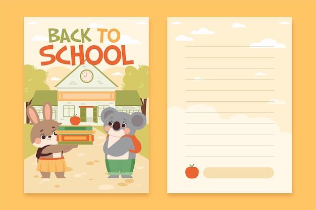 Voltar ao pacote de modelo de cartão escolar