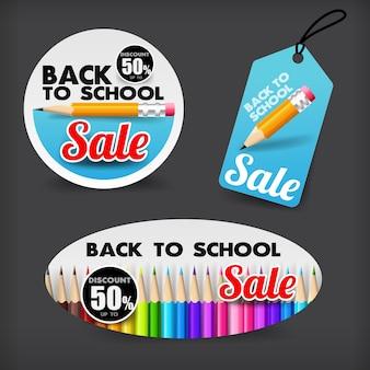 Voltar para a bandeira de marca de venda de escola para promoção