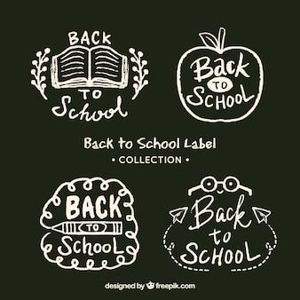 Voltar para a coleção de distintivo de escola no estilo de giz