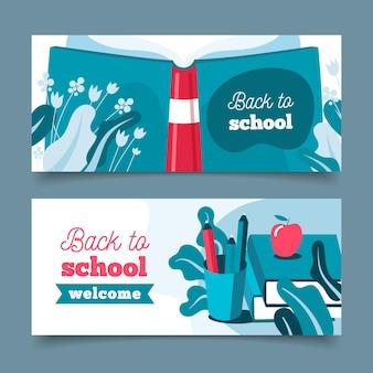 Voltar para a escola banners horizontais