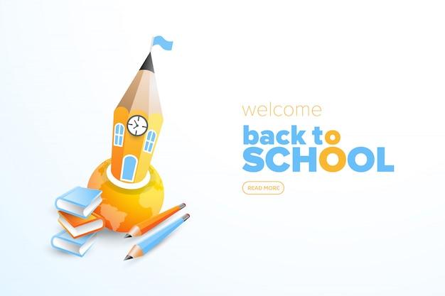 Voltar para a escola com ilustração