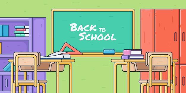 Voltar para a escola, conceito de sala de aula