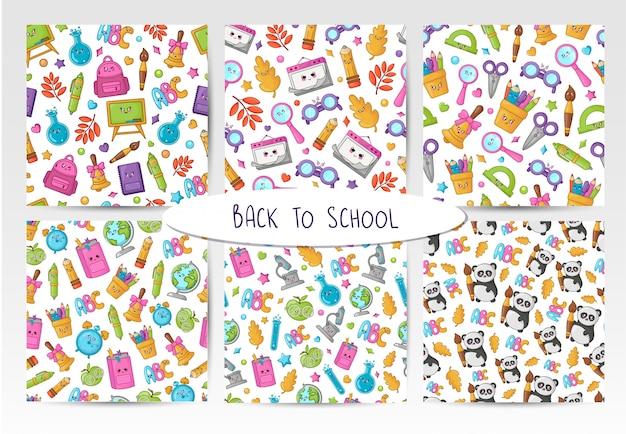 Voltar para a escola kawaii